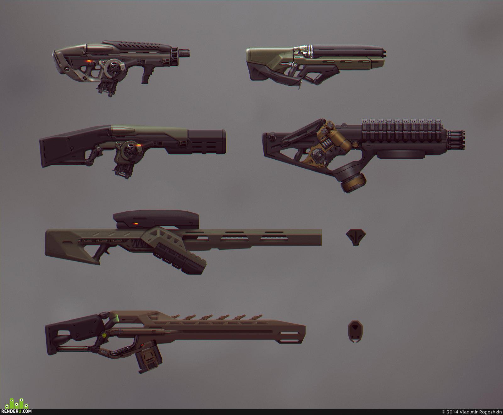 preview Концепты оружия для игры (UFO Online: Вторжение)