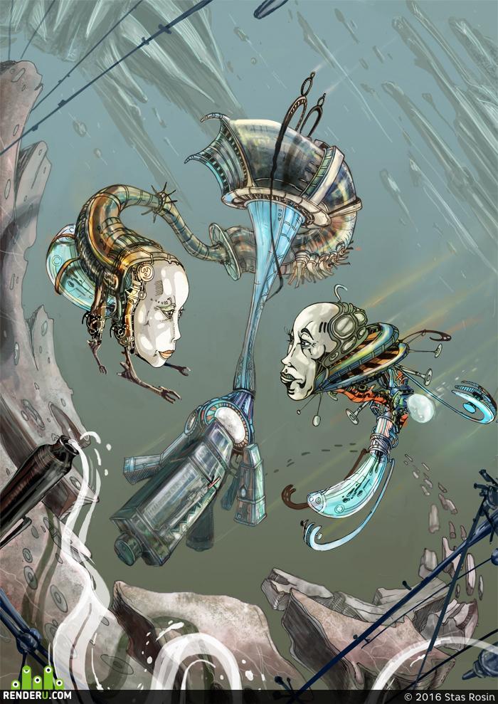 preview  Обложка для журнала по научной фантастике - Exodus