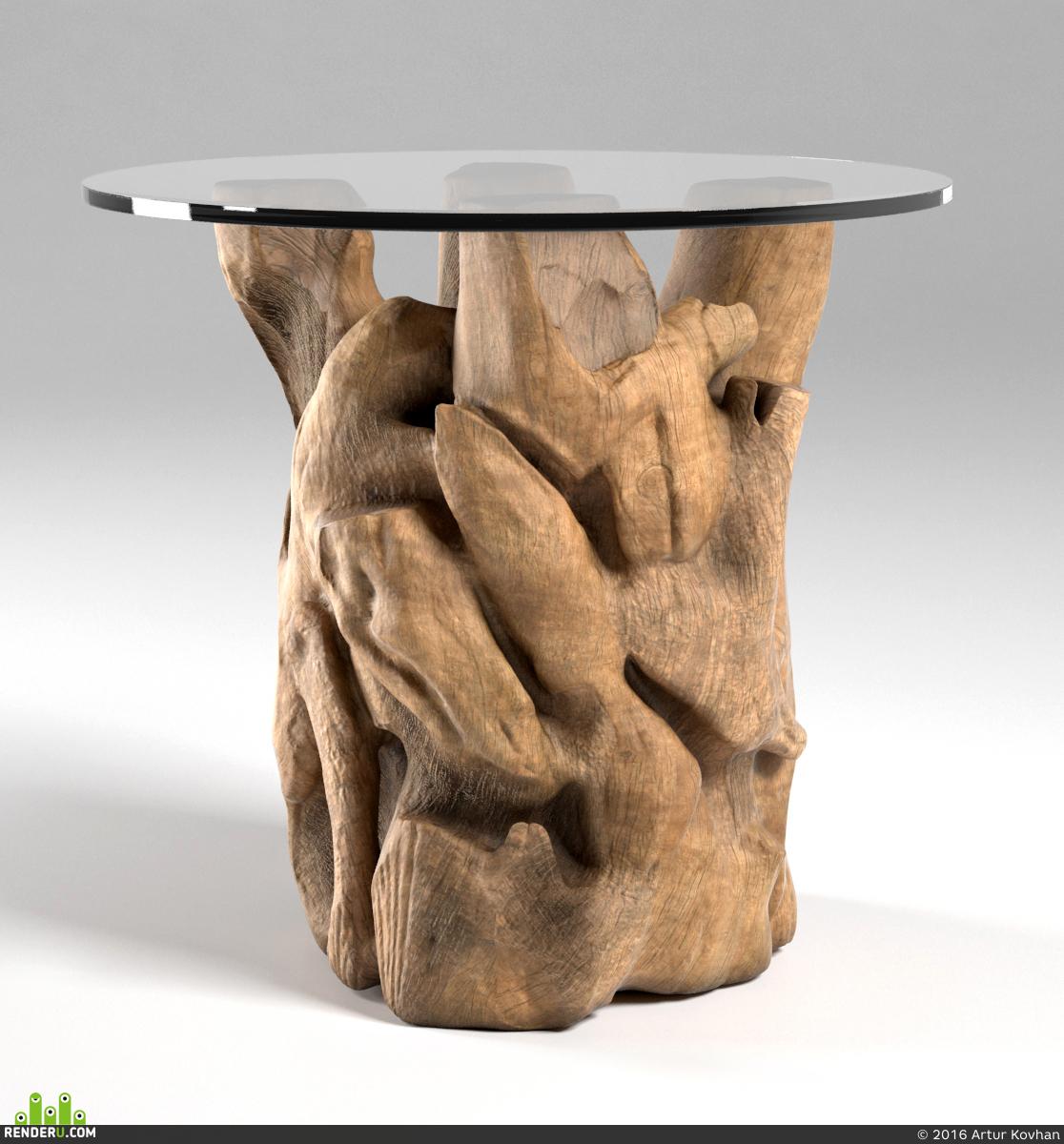 preview Деревянный столик