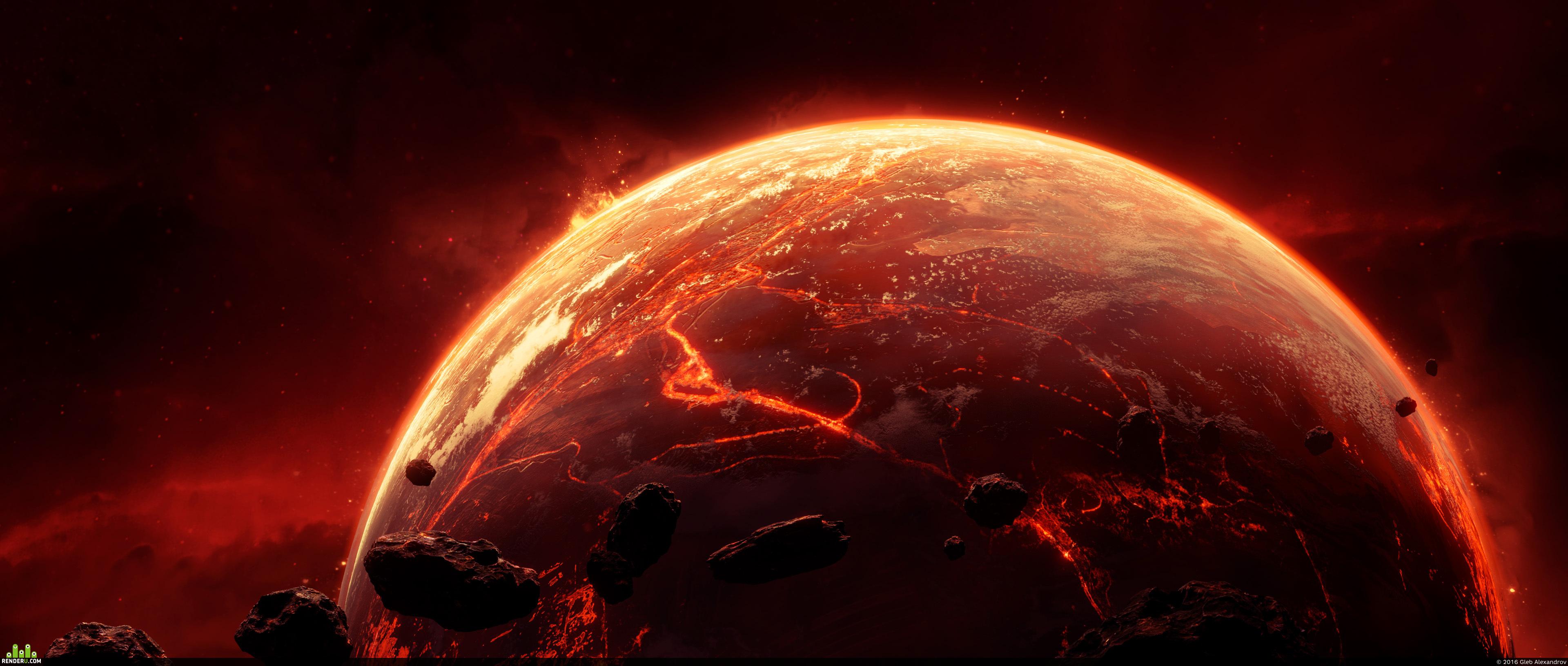 preview Рендеры для Space VFX Elements