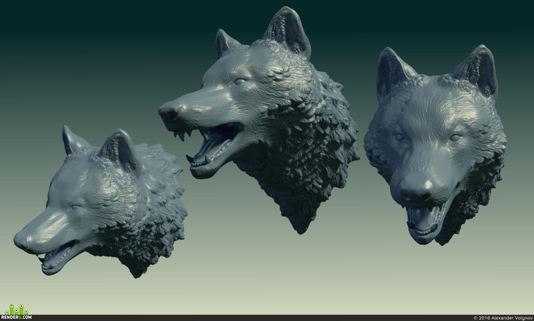 preview Голова волка.