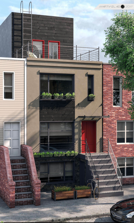 preview визуализация ДОМА в Бруклине