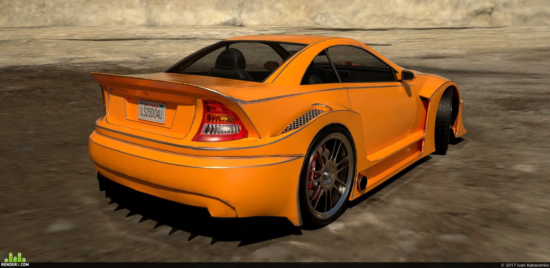 preview Benefactor Feltzer GTA V sportcar (25k tris)