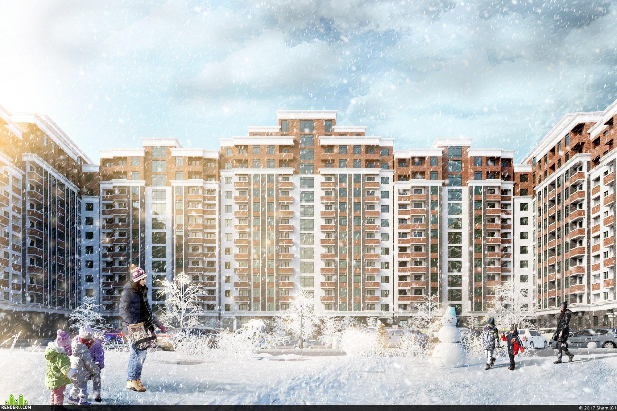 preview архитектура зима осень визуализация