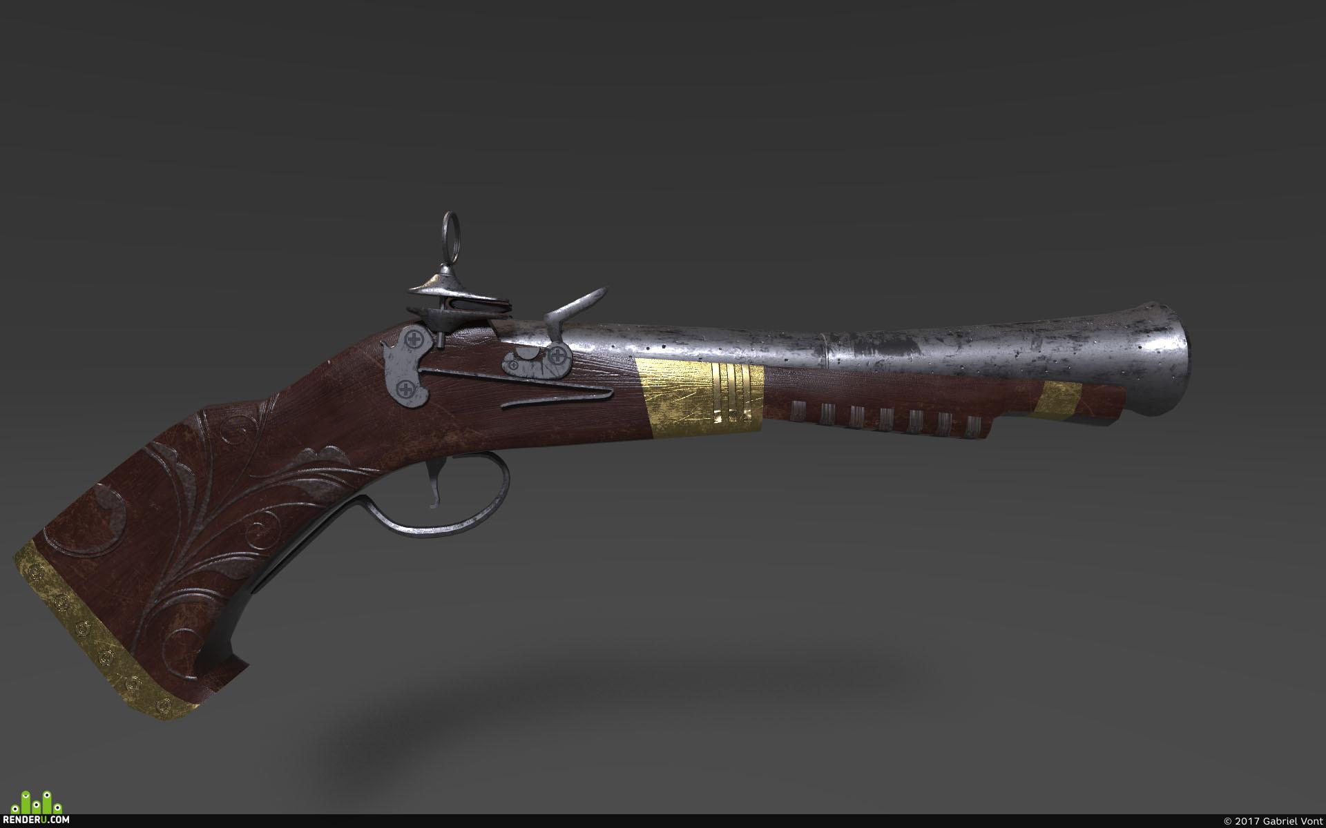 preview Старинный пистолет