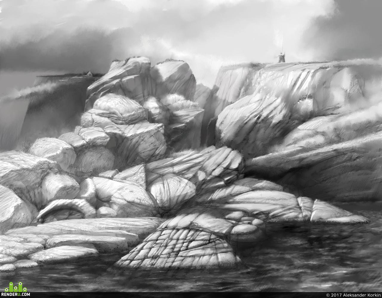 preview Скалистый берег