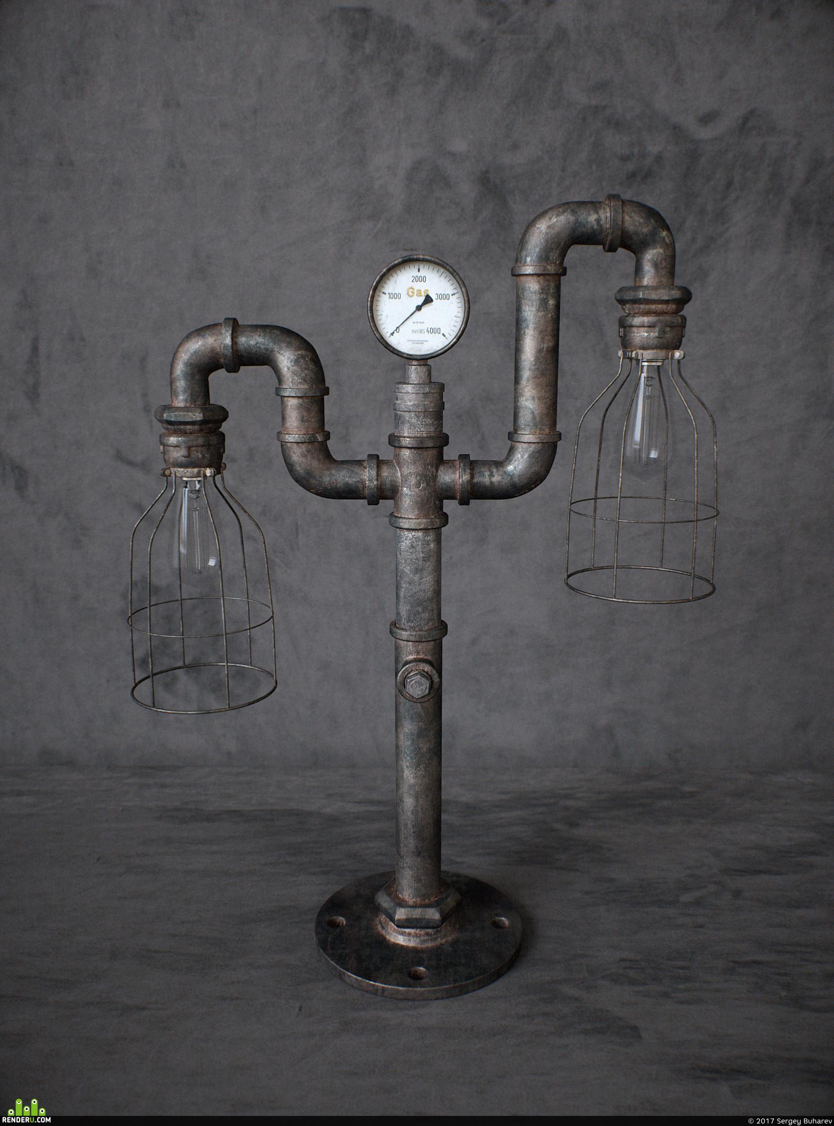 preview Настольный светильник в стиле Loft