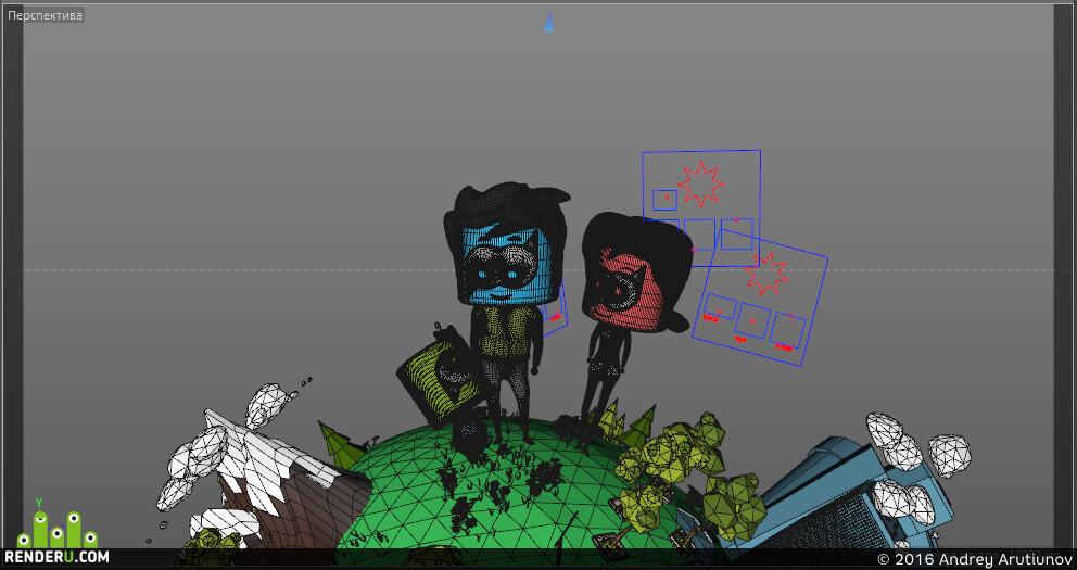 preview 3вд анимация для Пикадот