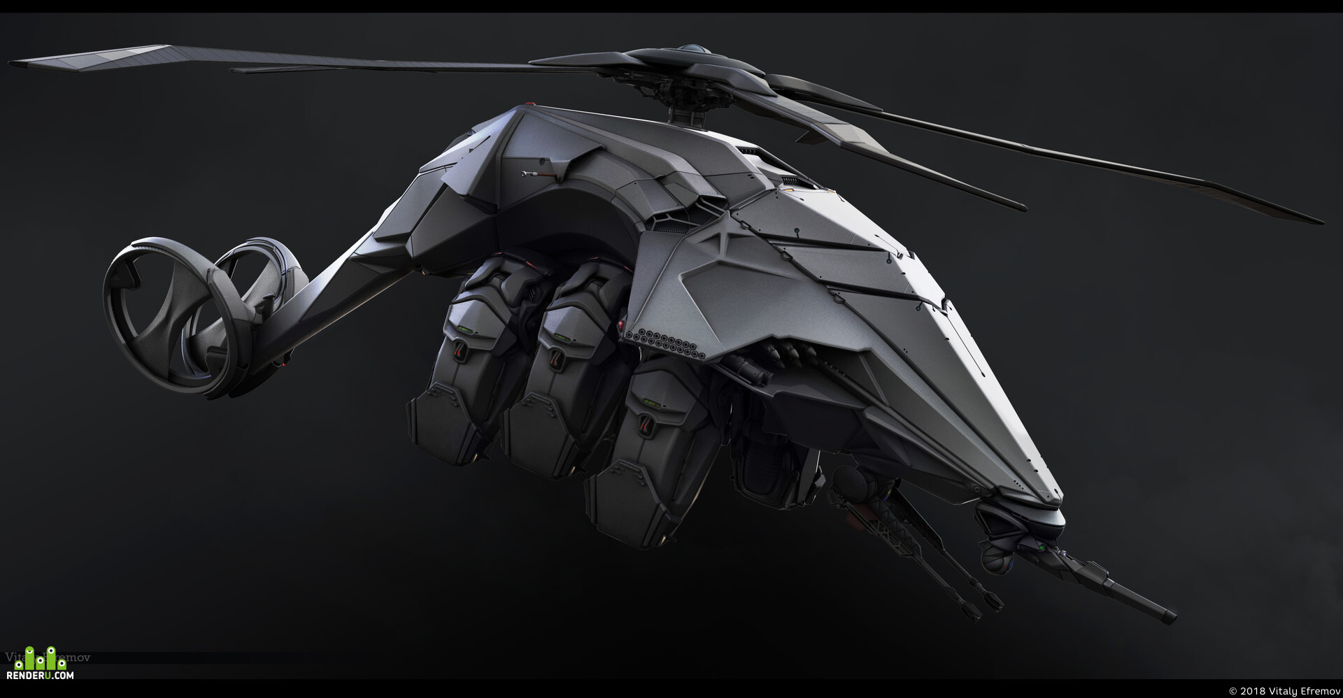 preview Sci-Fi Helicopter Concept