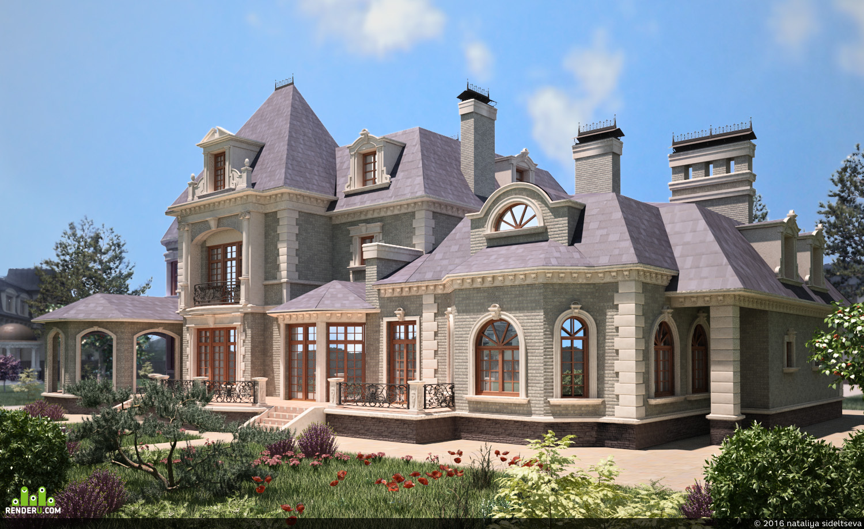 фото красивых домов особняков коттеджей охотника