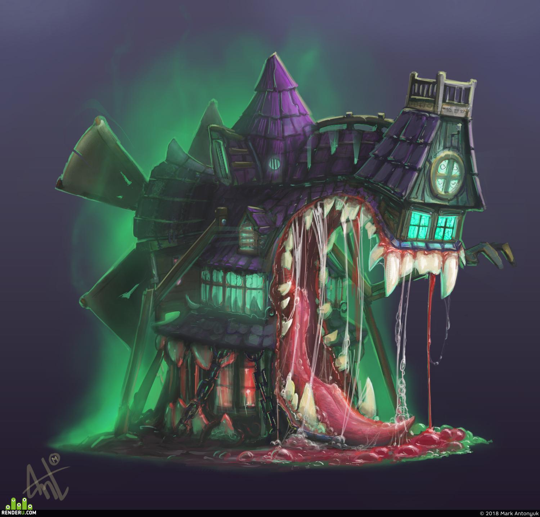 Картинки дом монстров