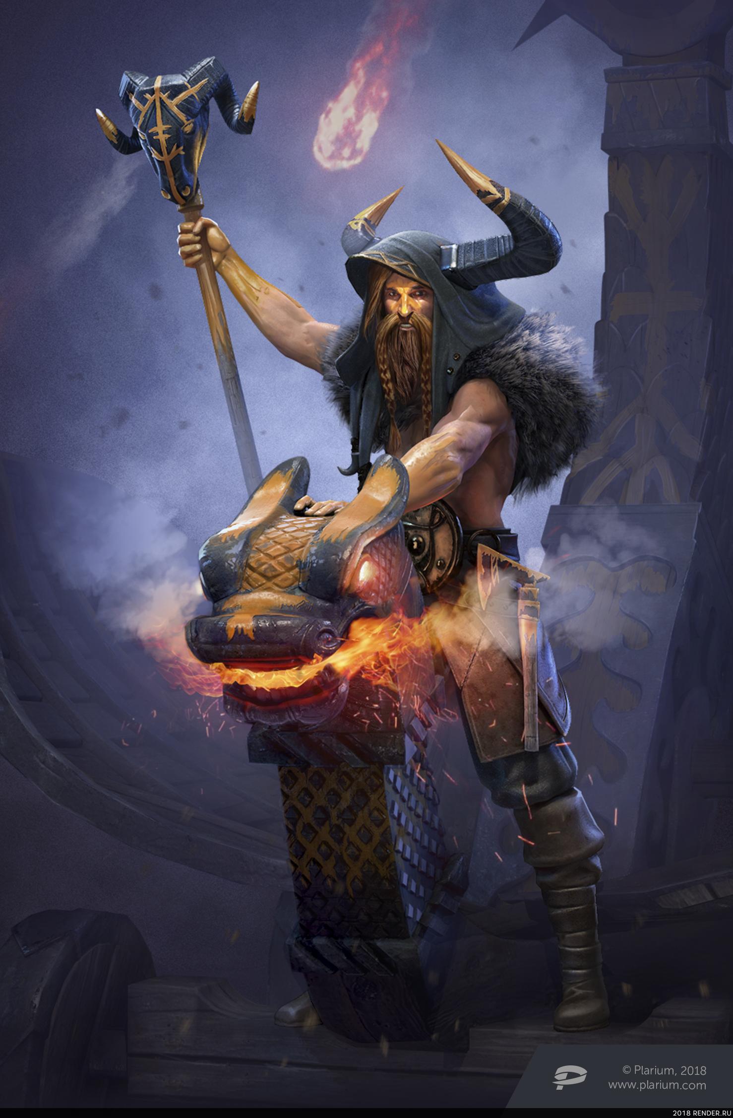 preview Шаман в Vikings: War of Clans + Концепт
