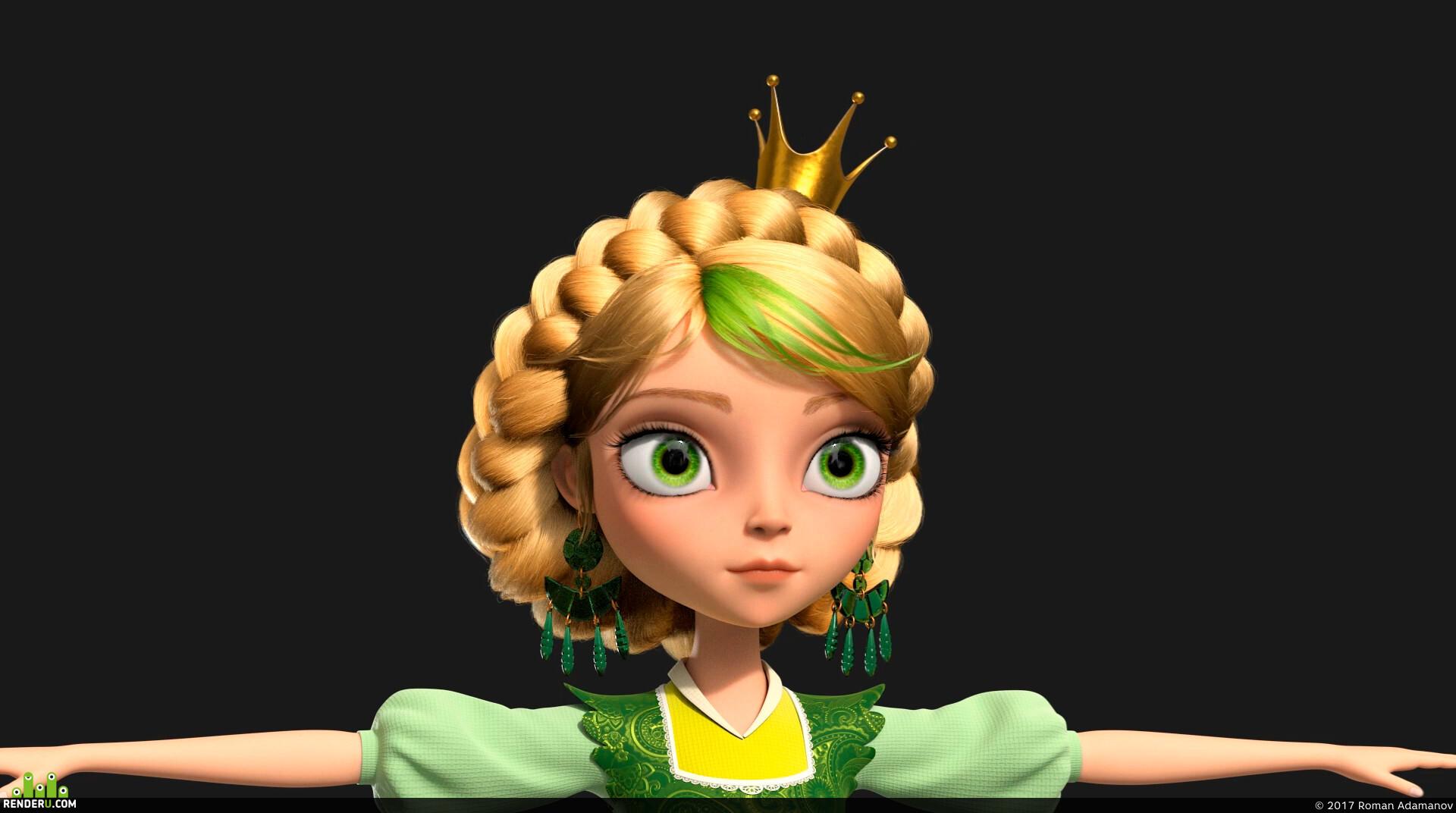 preview 3d character Vasilisa
