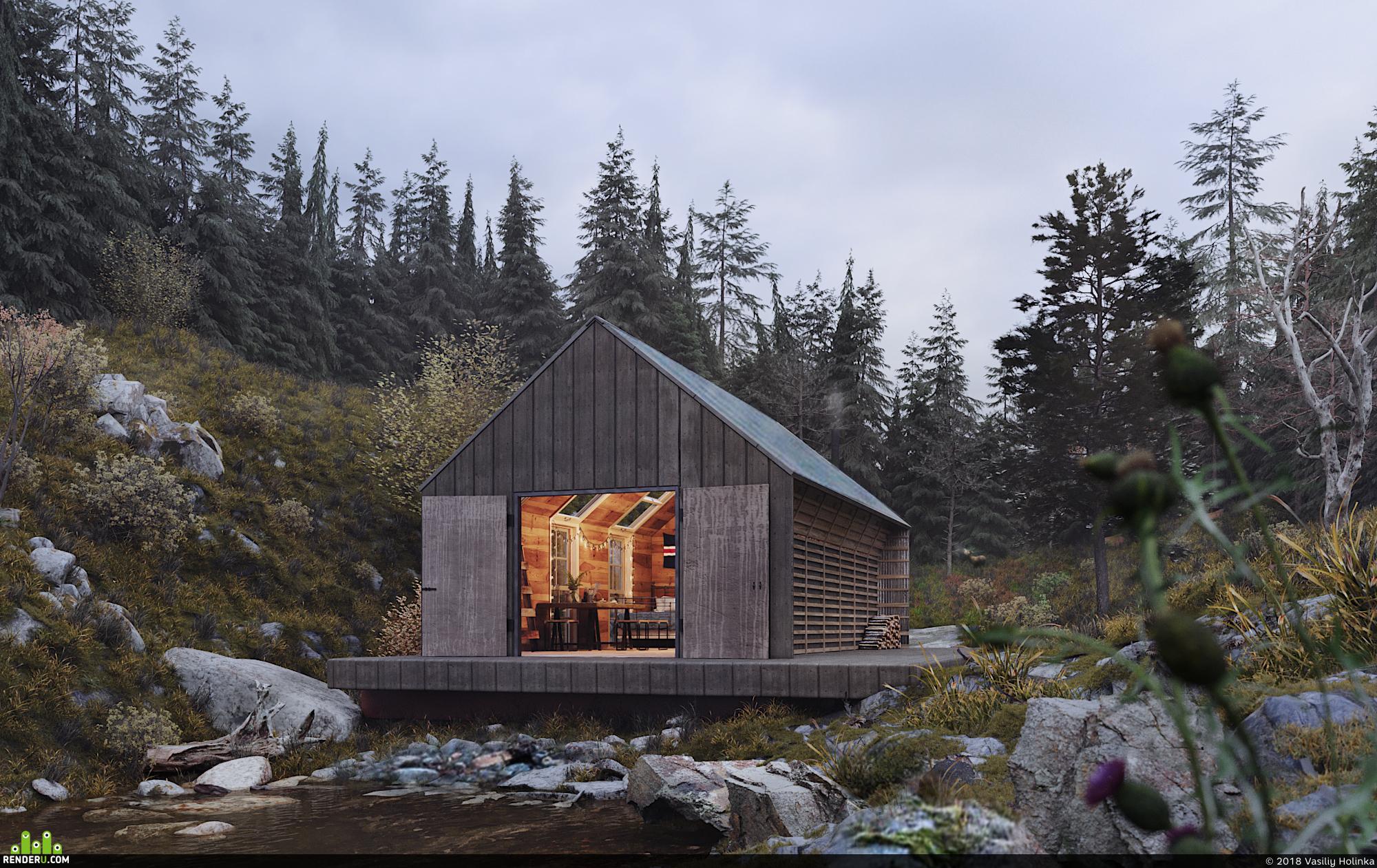 preview Хижина где-то в Исландском лесу.