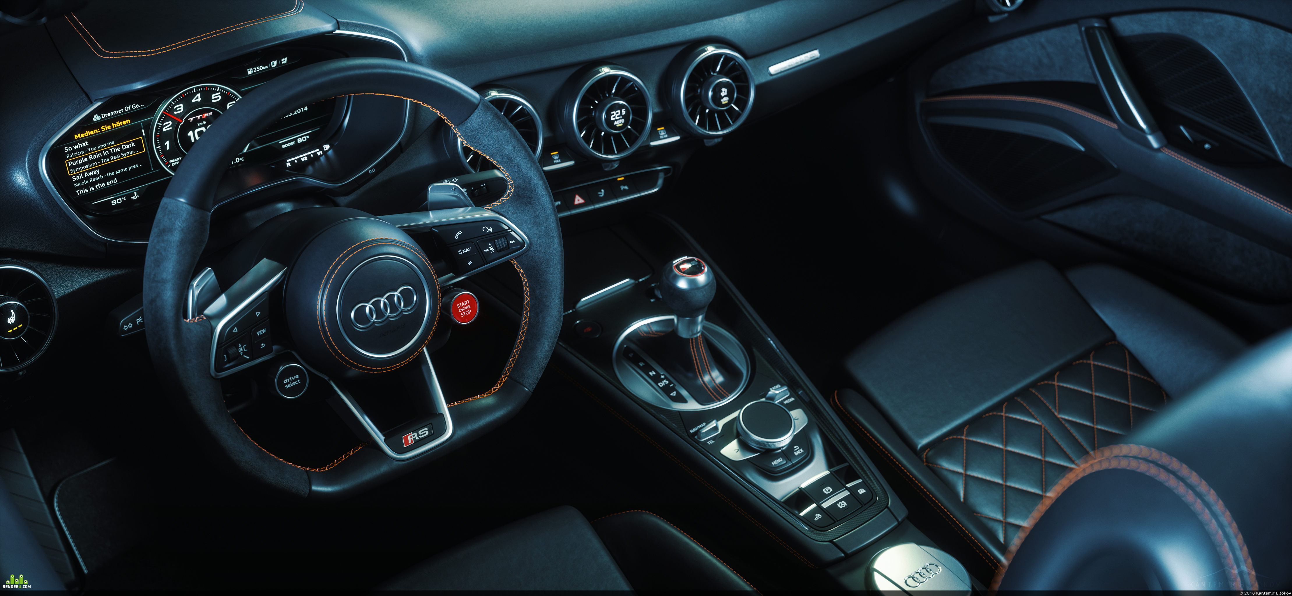 preview 2017 Audi TT RS Roadster Interior