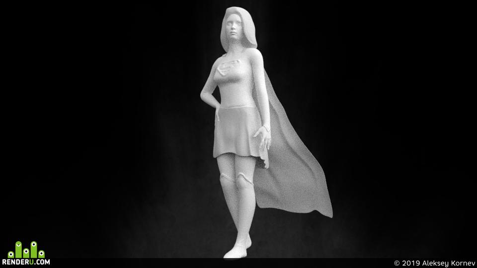 preview Скульптинг Супергерл