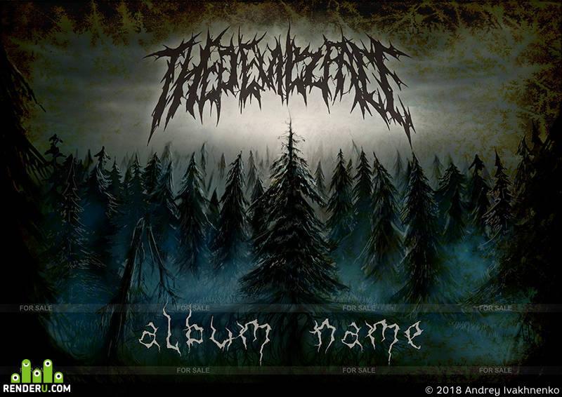 preview Тёмный лес. (обложка для альбома)