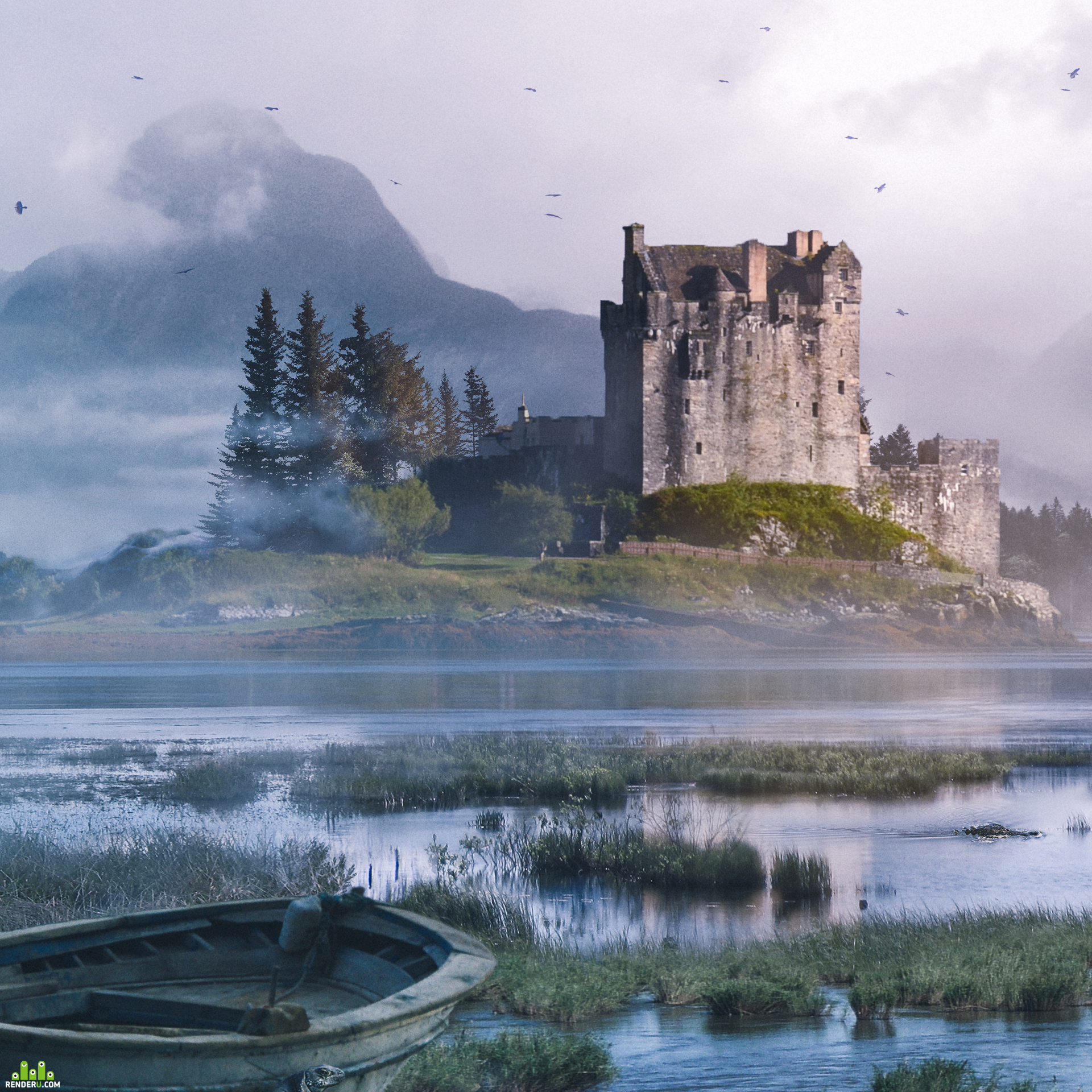 preview Eilean Donan Castle matte painting + Making of