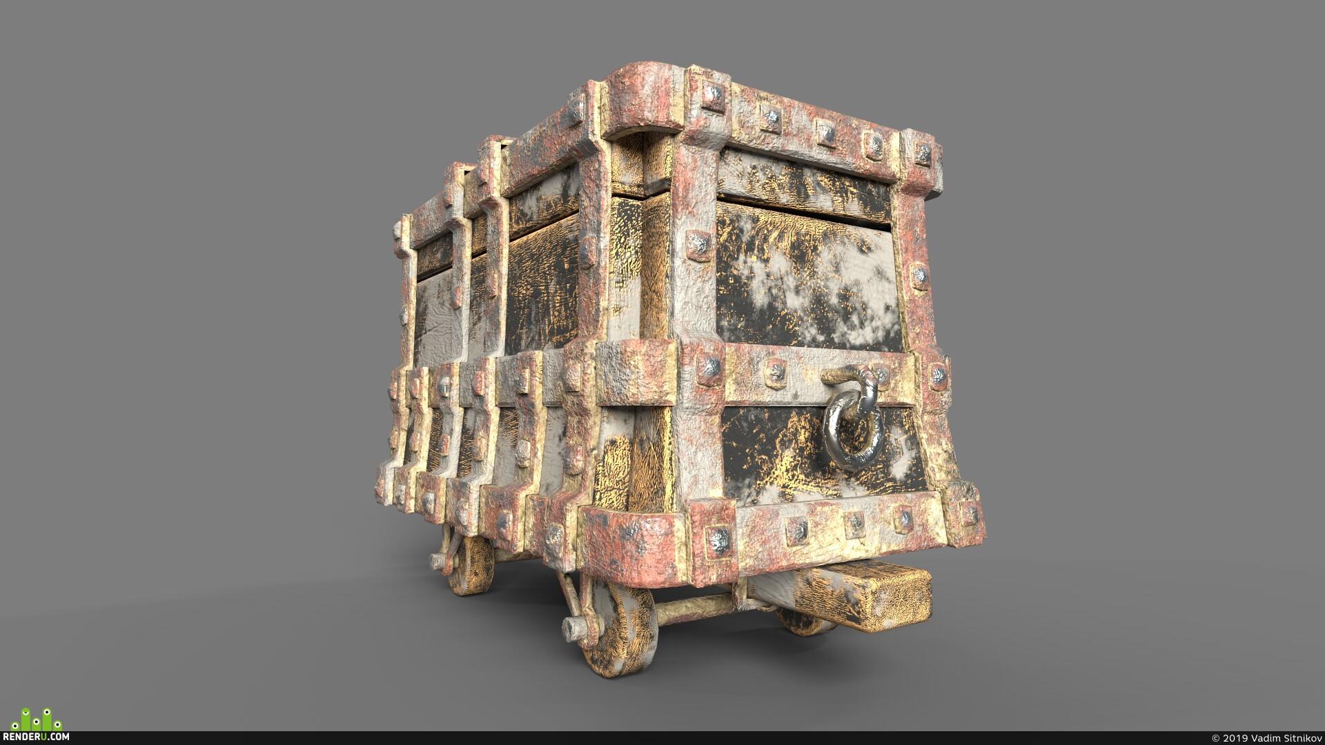 preview Средневековая шахтерская тележка