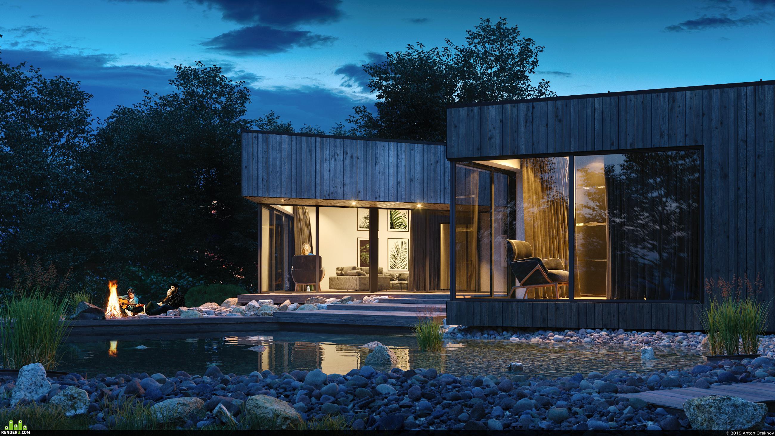 preview Черный дом на склоне реки Невежис в Литве