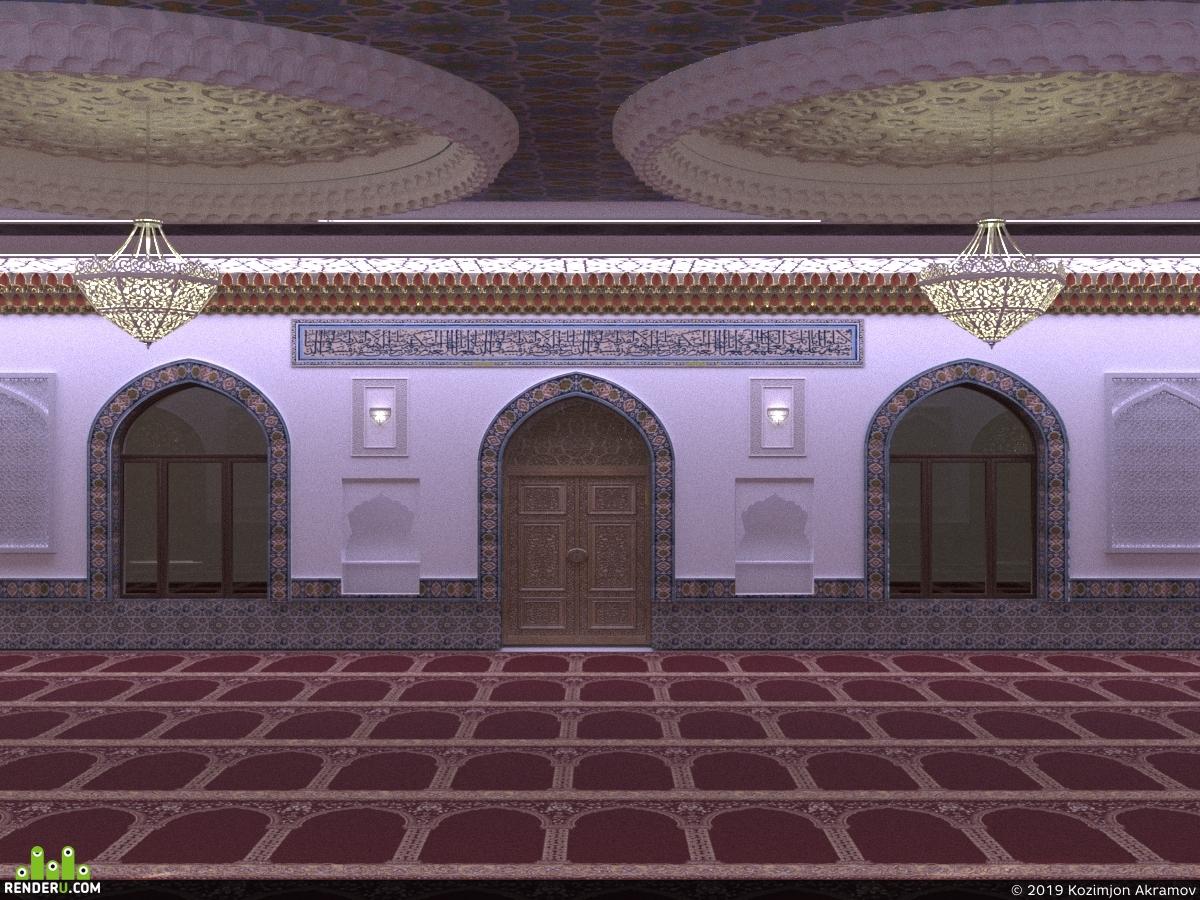 preview Мечеть  интерьер