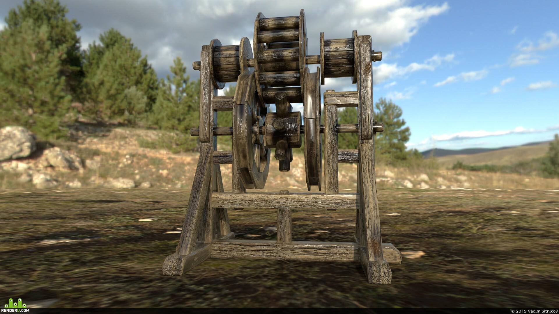 preview Средневековый подъемный механизм