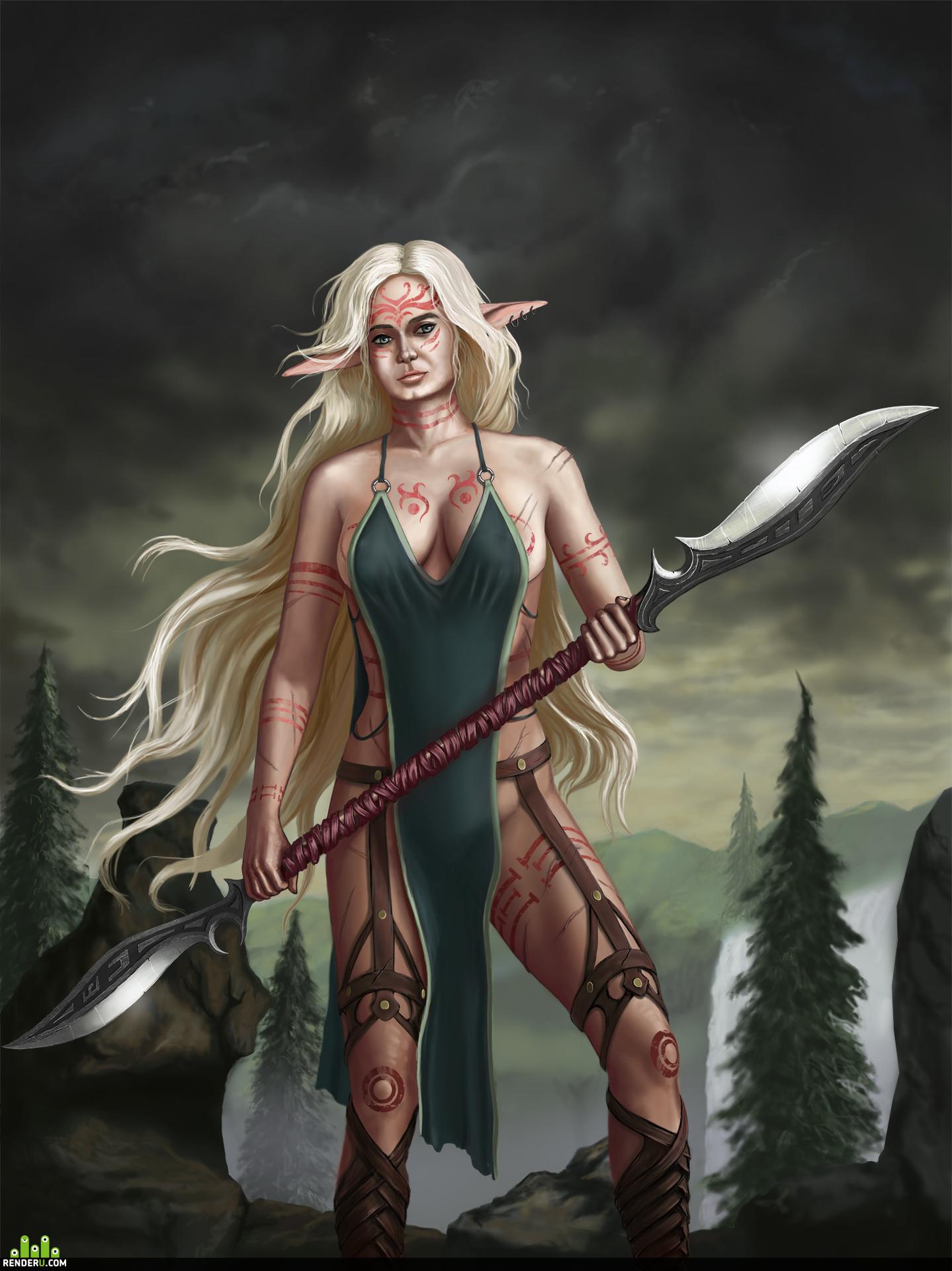 preview Elvish Fem Warrior