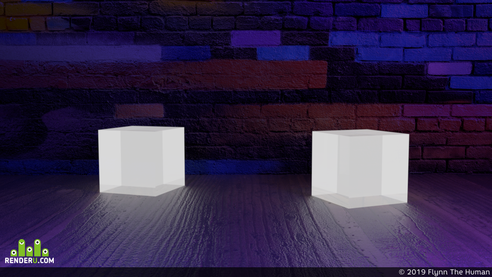 preview Scene with cubes
