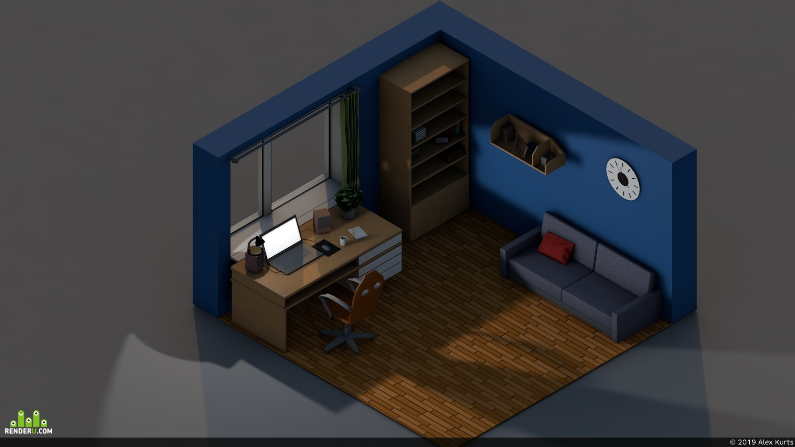 preview Isometric Room