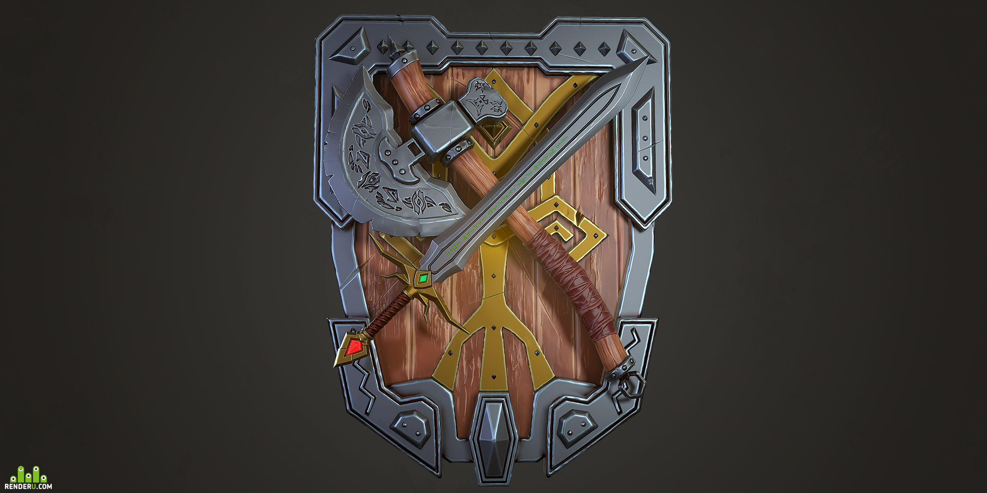 preview Stylized fantasy weapon