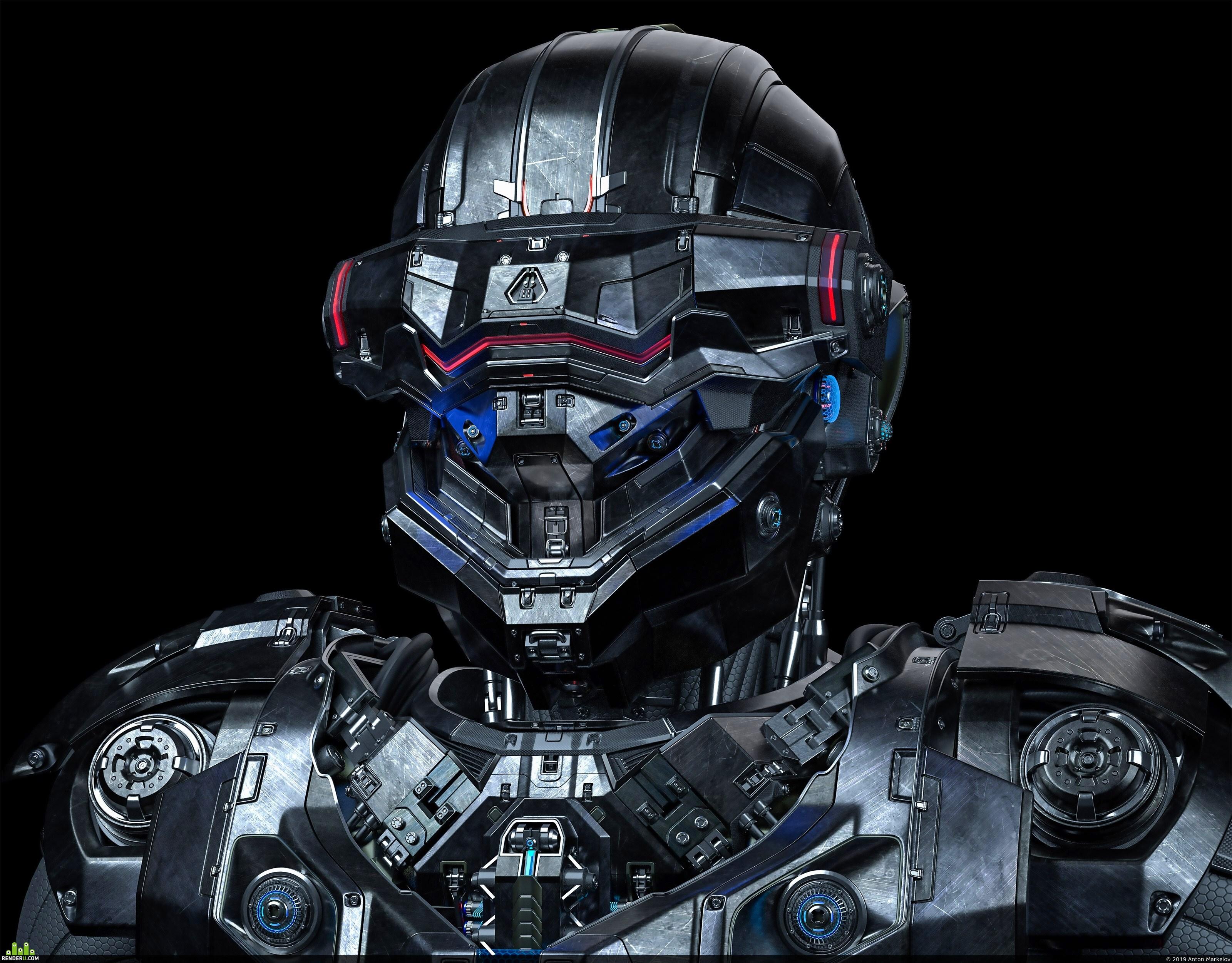 preview Sci-Fi Helmet