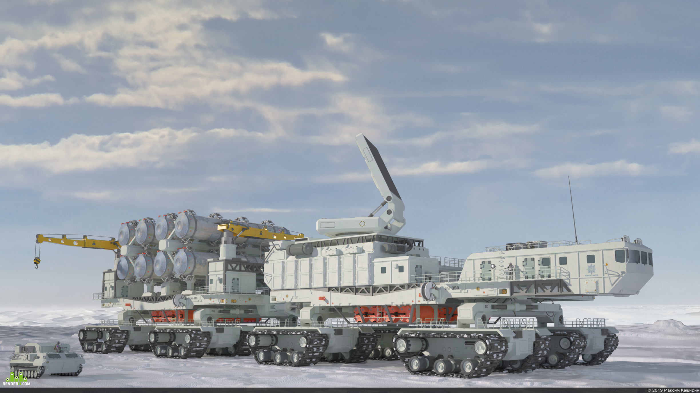 preview Heavy anti-aircraft missile system /missile defence C-700