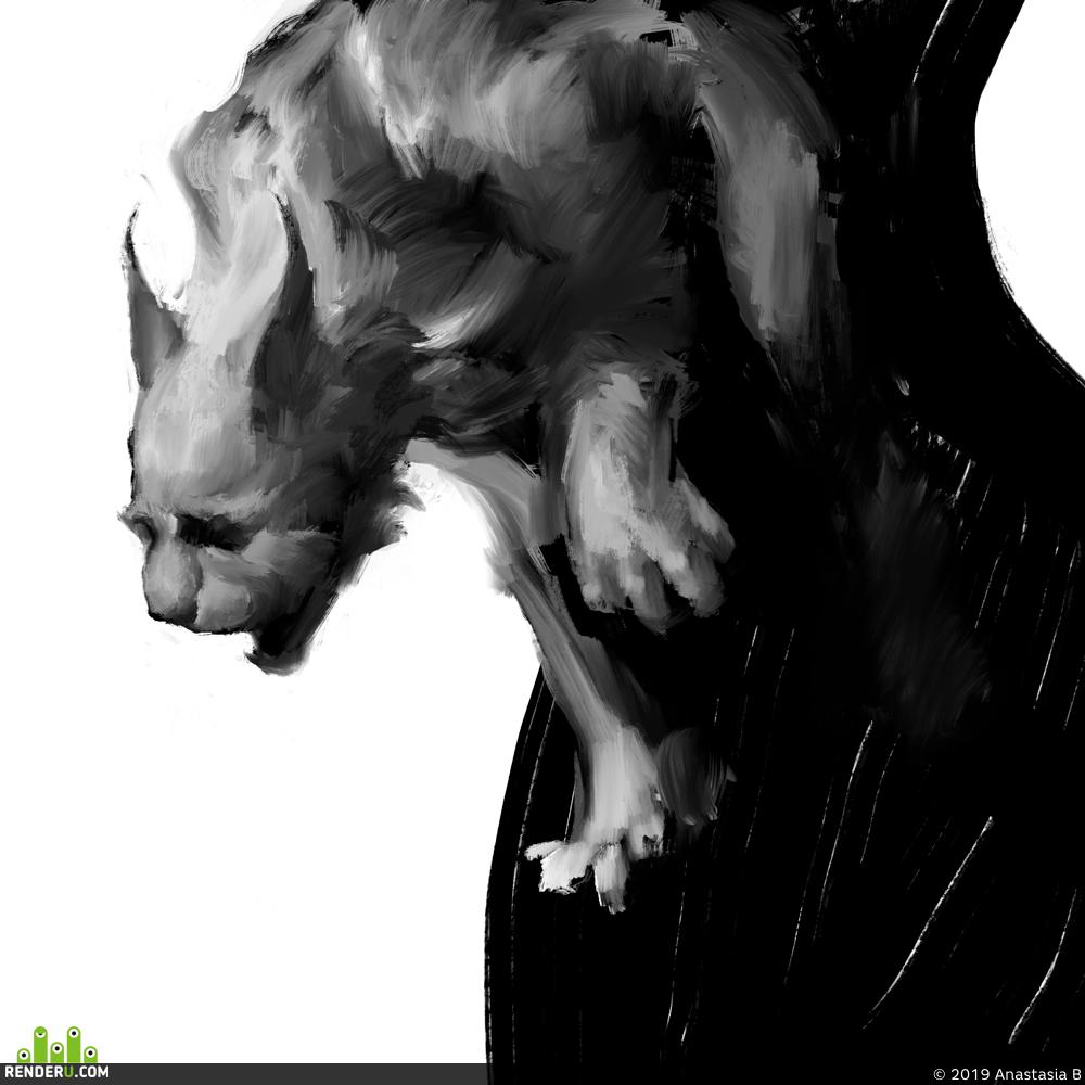 preview зарисовки животных