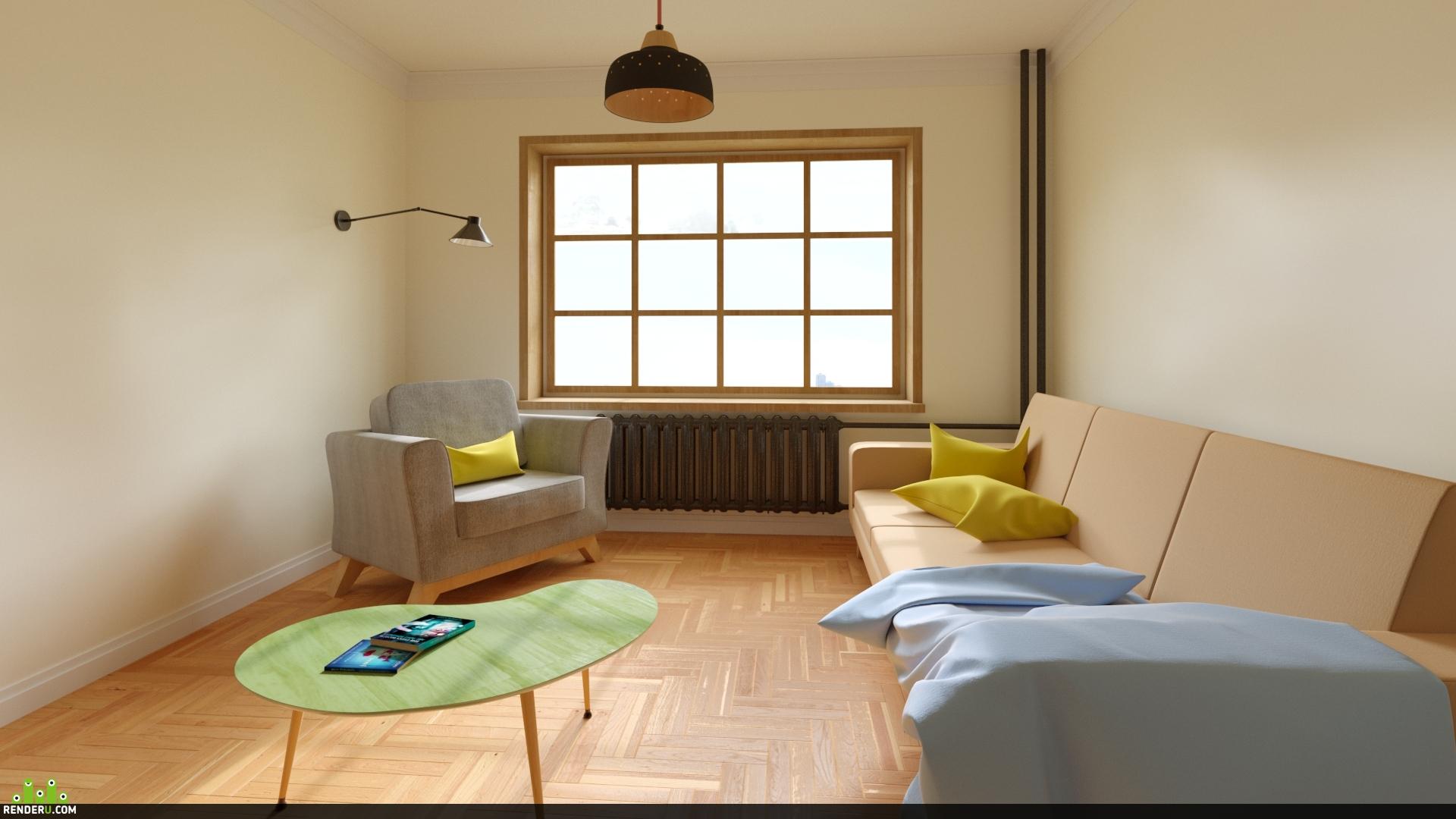 preview Комната в скандинавском стиле