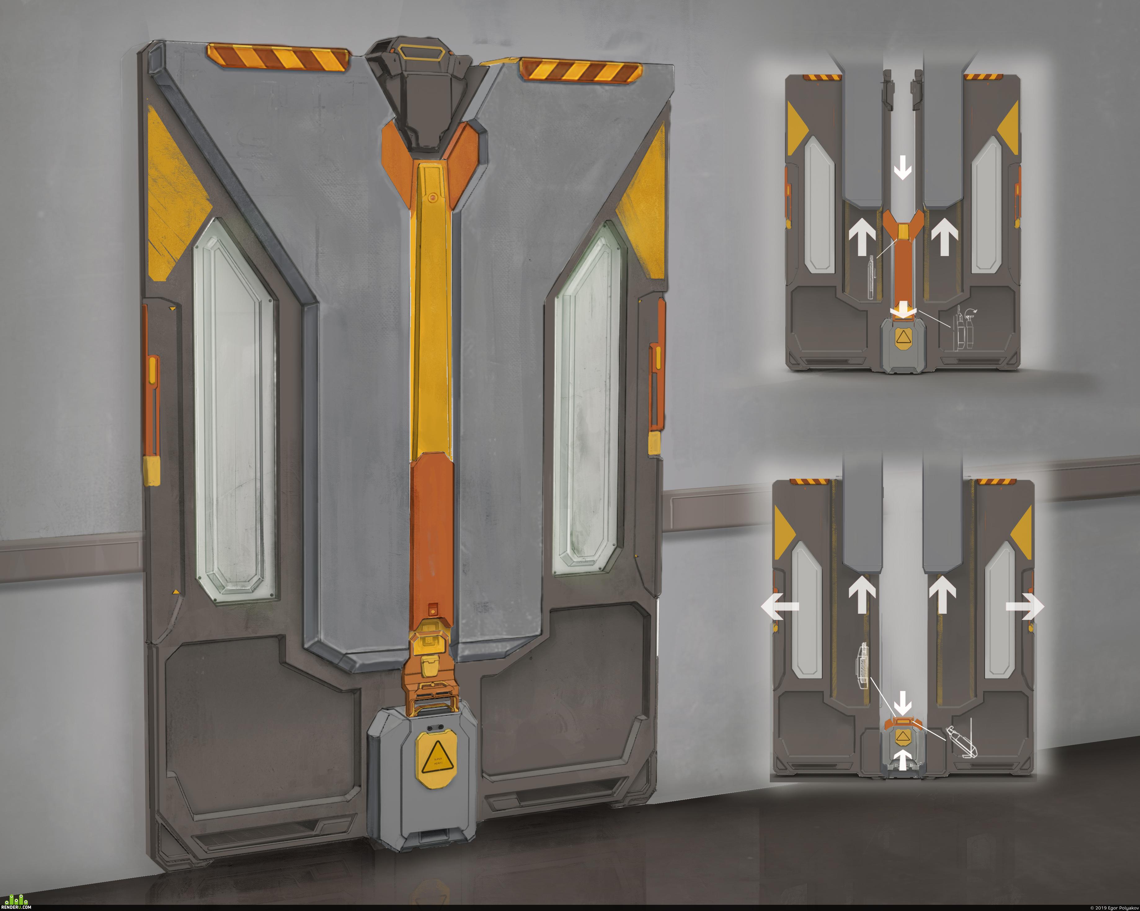 preview Sci-fi door concept design