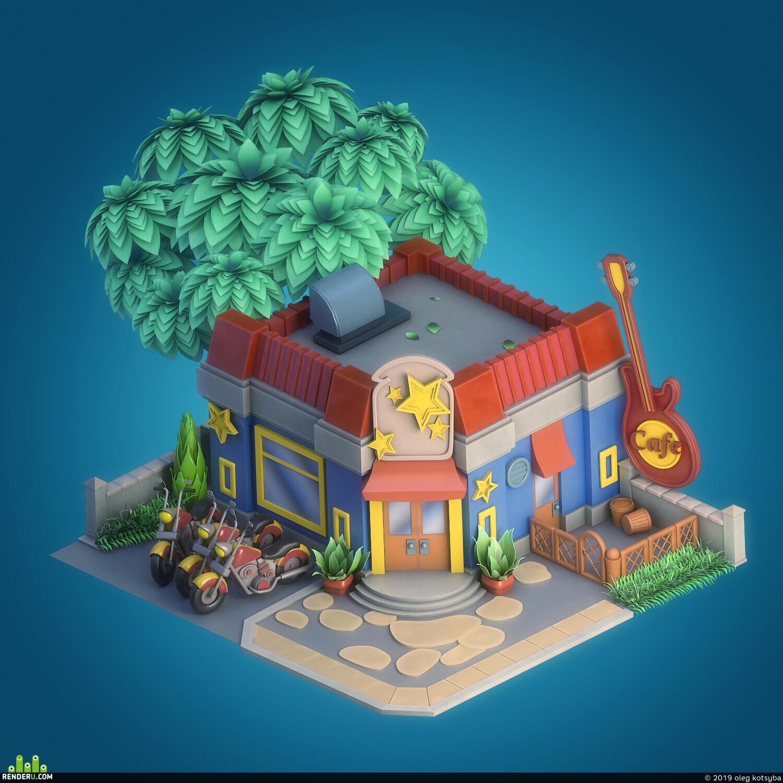 preview Cartoon cafe