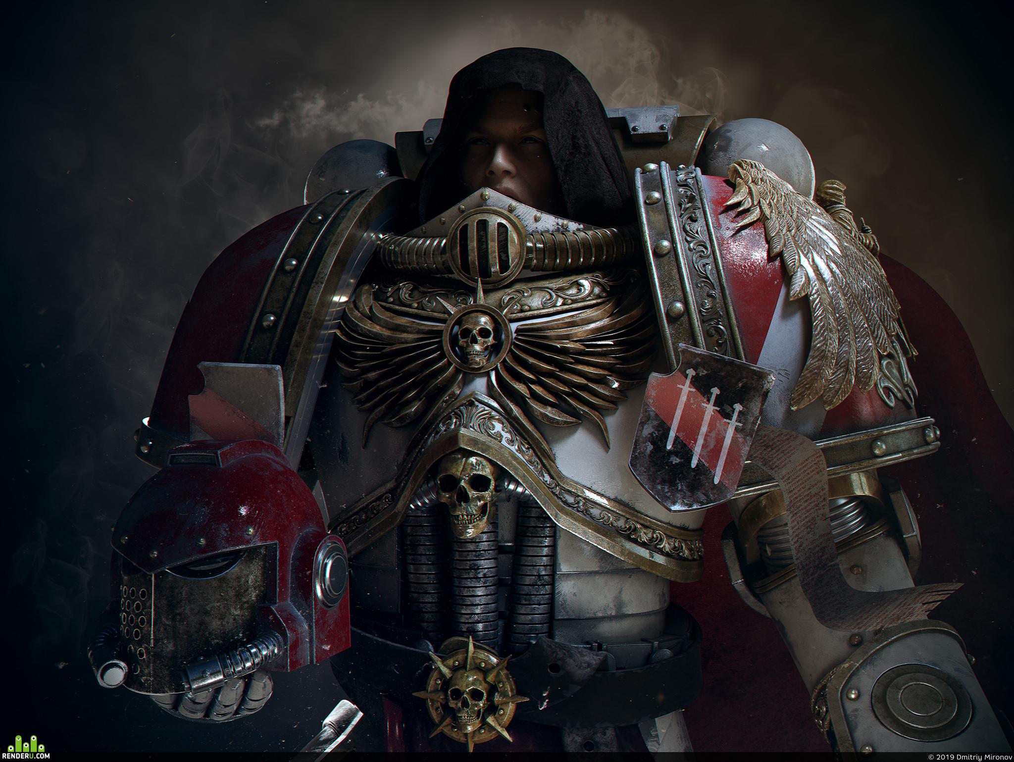 preview Warhammer 40K  Adeptus Astartes fan art