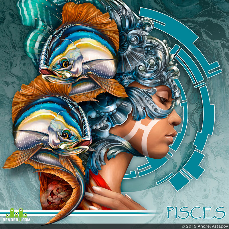 preview Zodiac signs. Pisces.