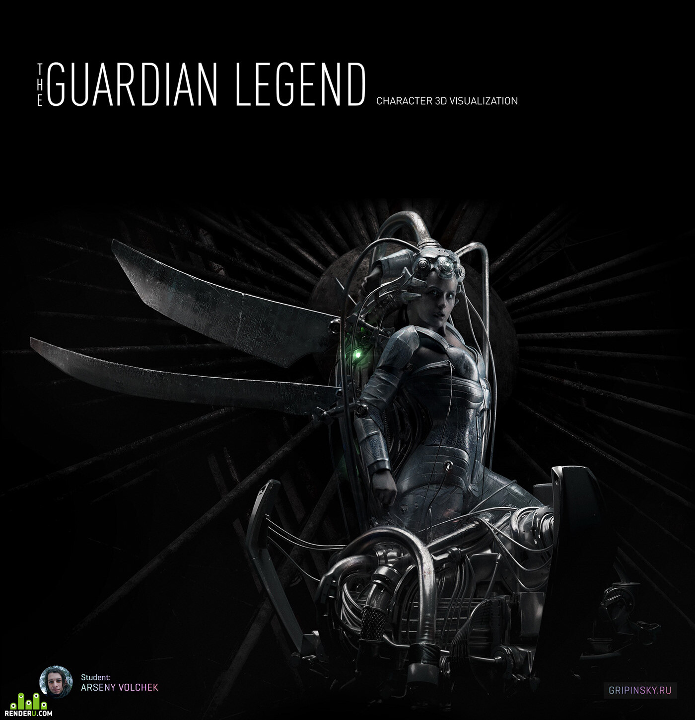 preview THE GUARDIAN LEGEND. Character 3D Visualization