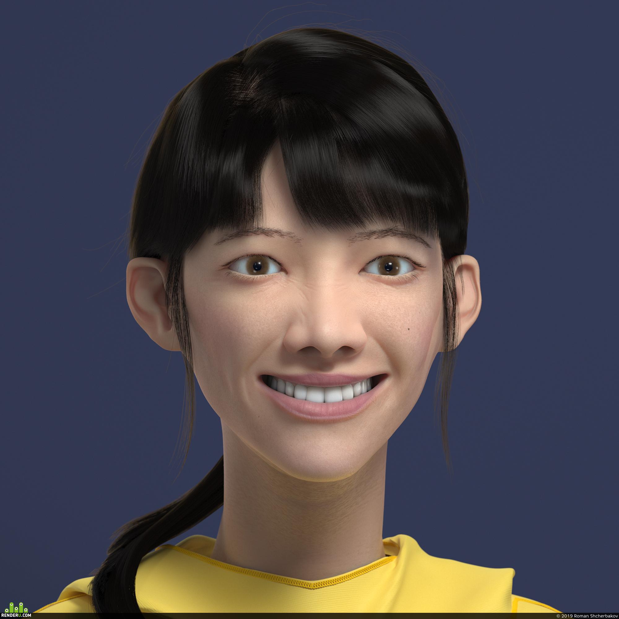 preview Sour Lemon — портрет азиатской девушки