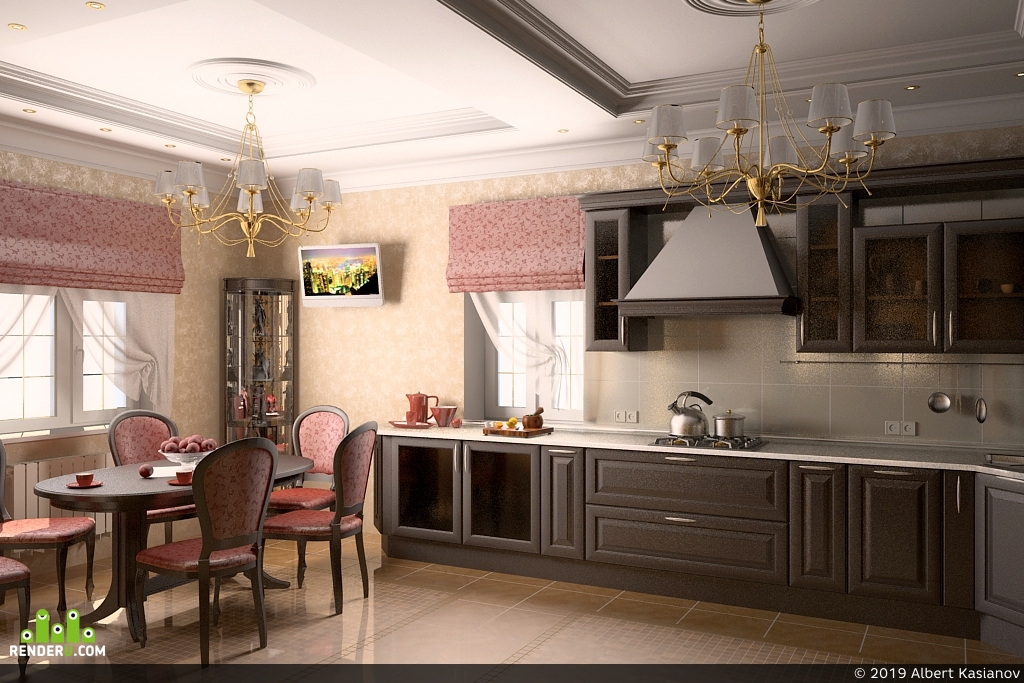 preview Классическая кухня