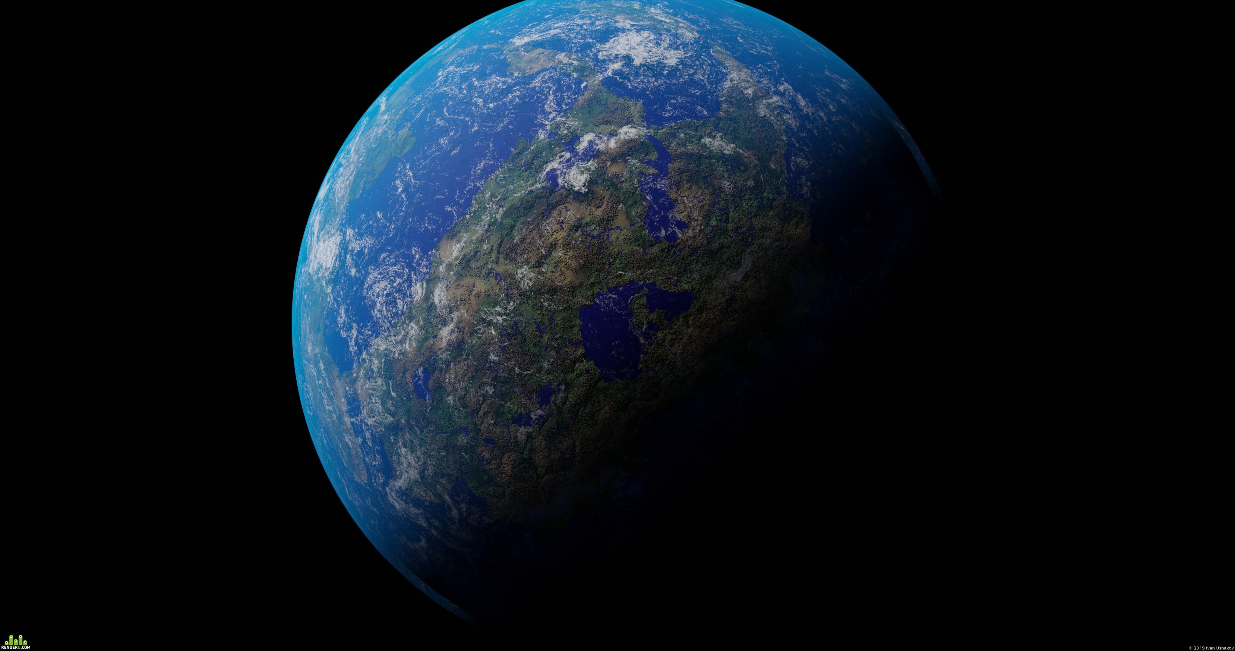 preview процедурная планета