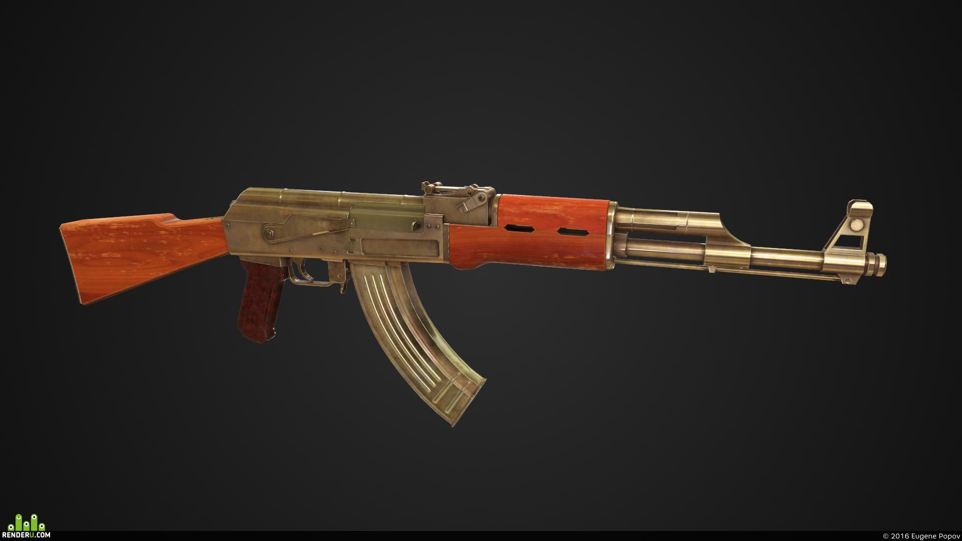 preview Low Poly AK-47