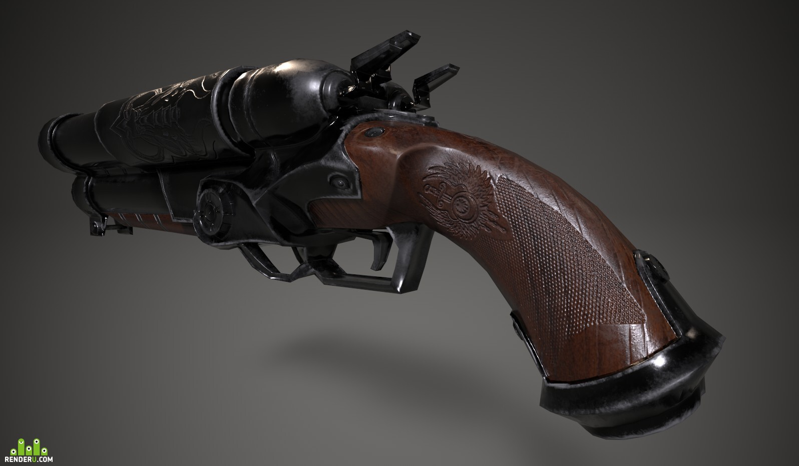 preview Shotgun COG MWWG Low poly game model | Mobile Game