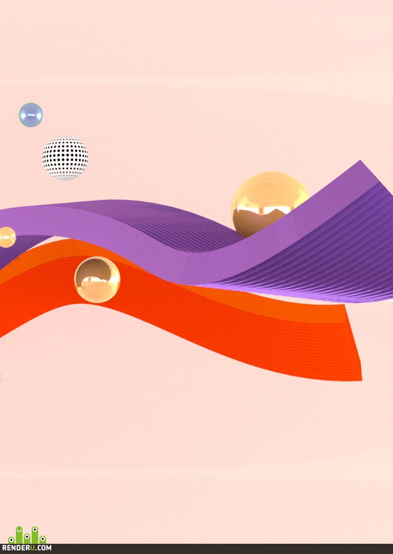 preview Фон «Абстрактные шары»