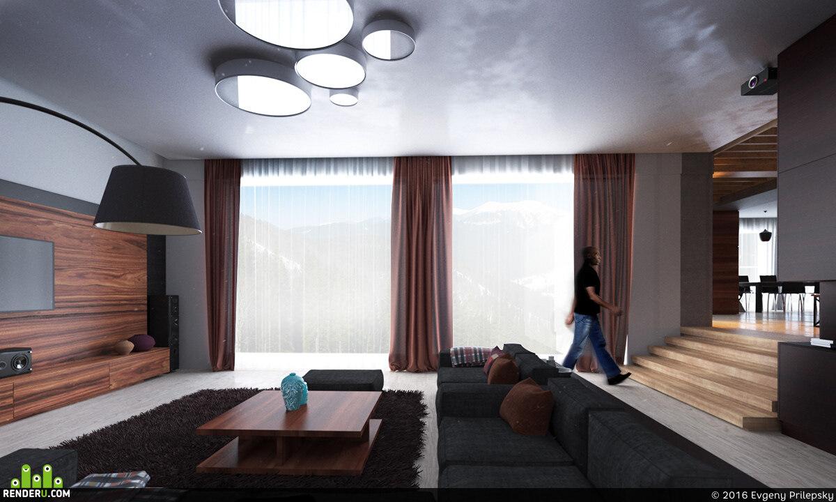 preview Создание интерьера  квартиры в Тайване
