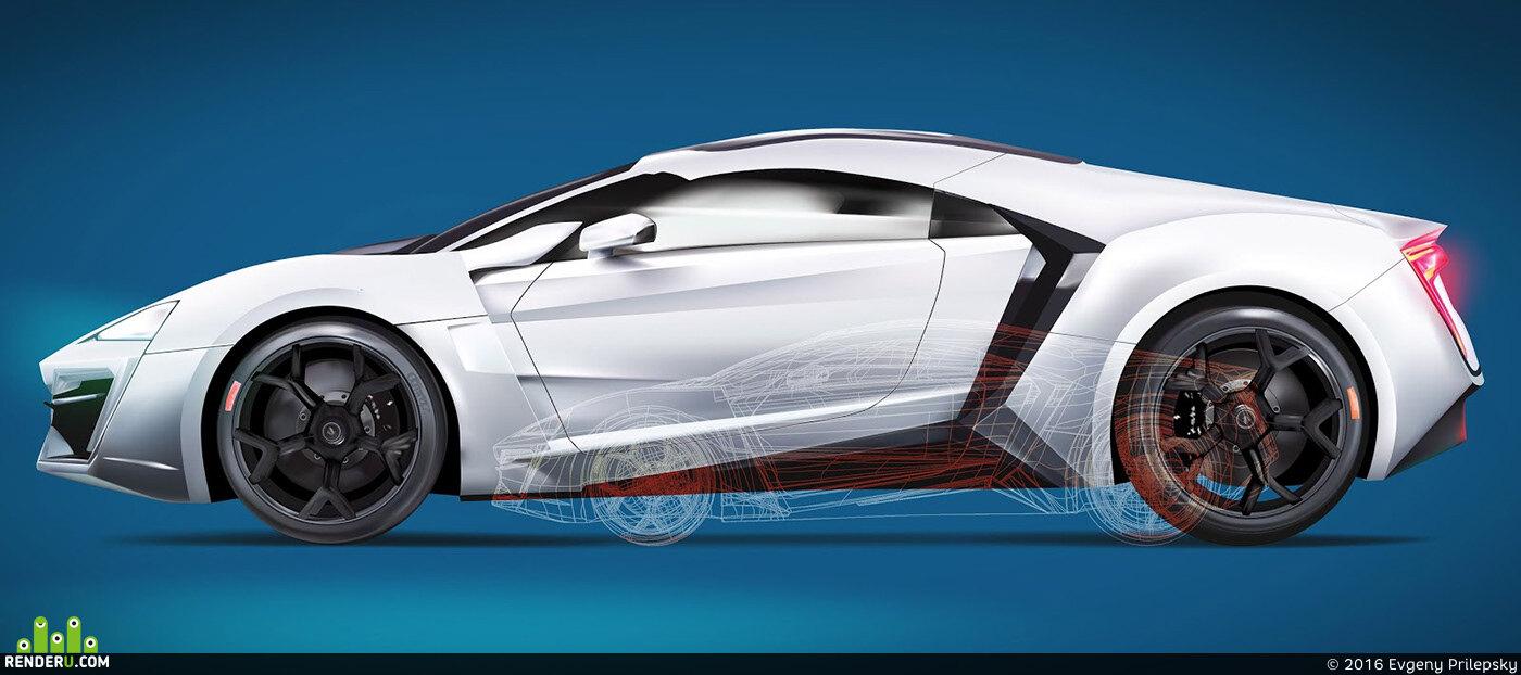preview vector graphic adobe illustrator car 02