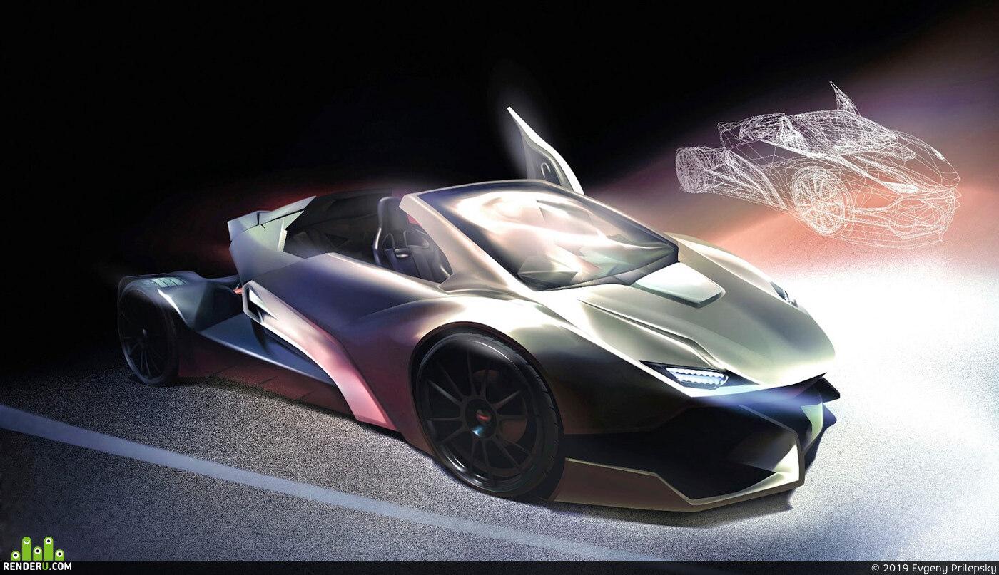 preview vector graphic adobe illustrator car 03