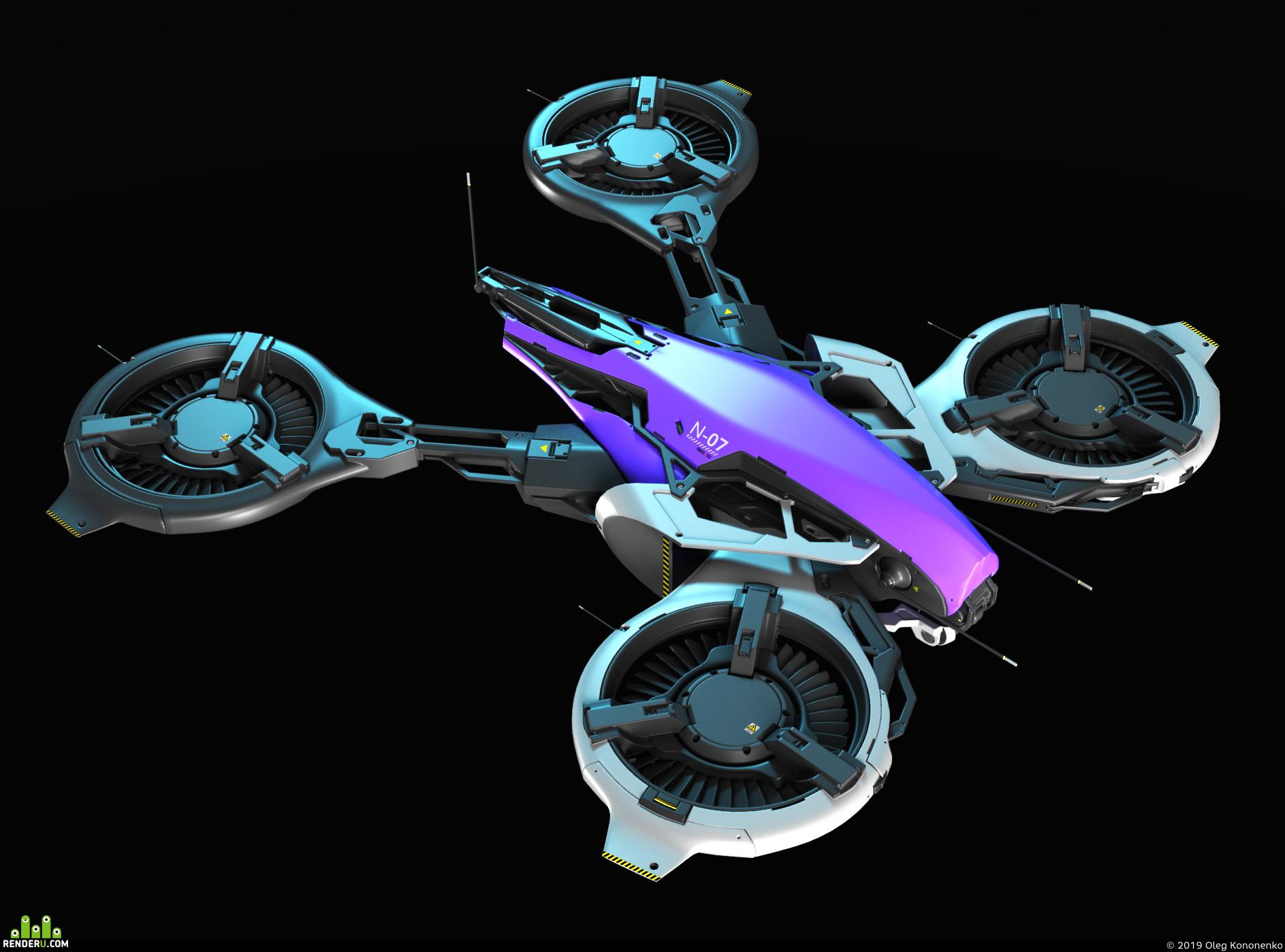 preview sci fi drone