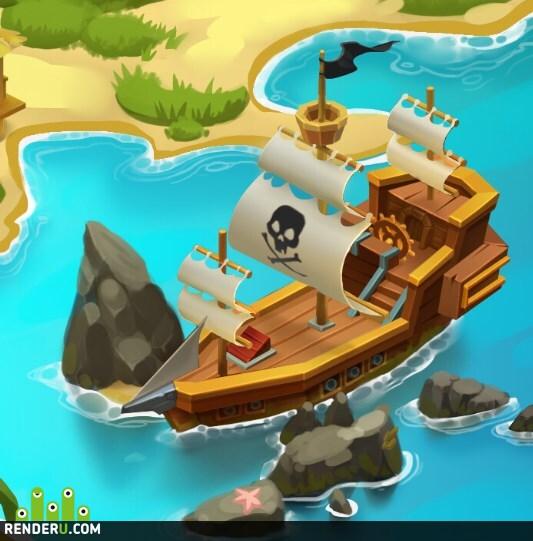 preview Пляж пиратского острова